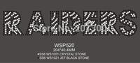 Raiders rhinestone transfer 30pcs/lot dhl free shipping WSP520