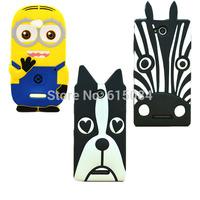 For Sony Xperia C HSPA+ C2305 case Minions Despicable me zebra dog silicone phone case cover