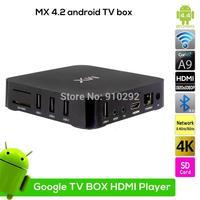 Dual Core MX 2 Android 4.2 Smart TV Box Media Player XBMC WIFI 8GB 1080P EU/US/AU/UK Option power Plug