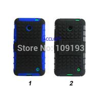 Black& blue Silicone PC Plastic Stand robot Armor Hybrid Case Cover for nokia lumia 630  case for  nokia 630 lumia 630 10pcs/lot