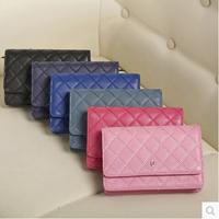 Free Shipping Genuine Leather Women Brand Wallet Shoulder Bags Designer Lady Fashion Mini purse Clutch Bag18*12*4 cm