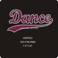 Dance rhinestone iron on transfer 30pcs/lot dhl free shipping WSP523