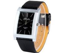 Top Fashion Round Dial Men Watch Pointer Display Quartz Watch Leather Band Wristwatch