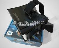 Free Shipping New 1Pcs Plastic Cardboard Head Mount 3D Vr Virtual Reality Video Glasses Black