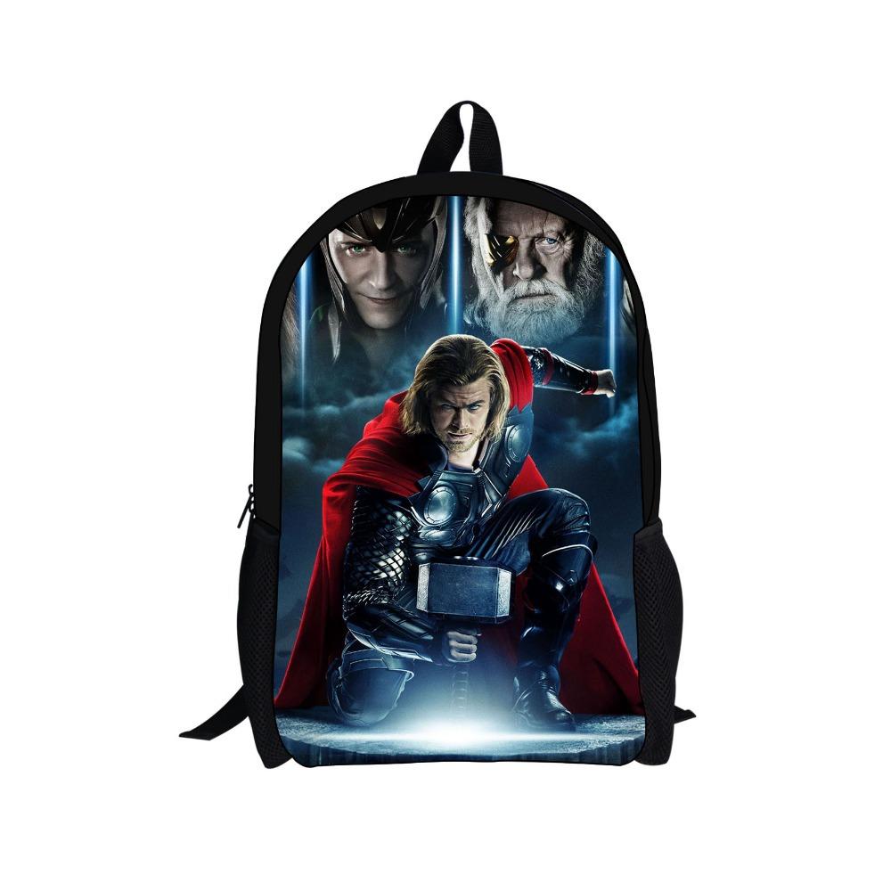 2014 New Design Children Cartoon Superman School Backpacks for Boys Bookbag Kids Thor Bagpack Avengers Backpack Women Travel Bag(China (Mainland))