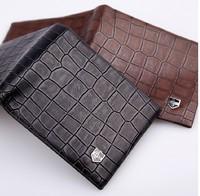 Alligator Pattern Men's Wallet Genuine Leather Business Short Wallet Men Male Leather Wallet
