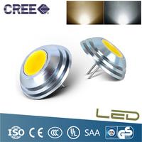 1PCS 2w G4 12V LED Bulb Light Lamp Beads 280 Degrees  Aluminium Material  3Color,Warm White, White,Blue Light,