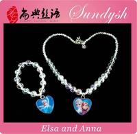 Beautiful Kids Frozen Necklace Bracelet Set
