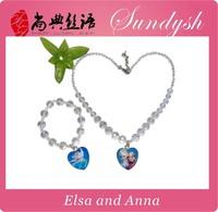 Beautiful Kids Frozen Necklace Bracelet Set Frozen Jewelry Set