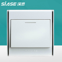 Siase PC panel wall switch high quality light switch 10A single control