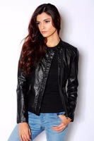 Free shipping 2014 za* Top Quality  Leather printed jacket  women coat sweater  American apparel  Summer-Autumn
