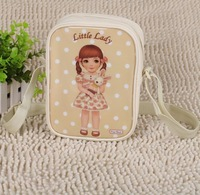 Cartoon doll PU patent leather messenger bag handbag cute children fashion bag 6 colors Korean New