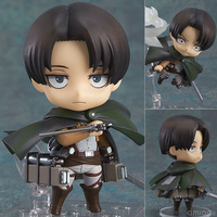 Anime Attack on Titan Nendoroid 390 Cute Levi Ackerman Figure PVC Action Figure Collection Model Toy Free shipping