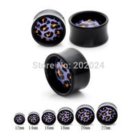 Acrylic Leopard Skin Print ear Plugs Wholesale Ear Piercing Jewelry