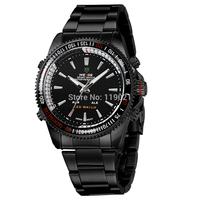 2014 new men's casual sport watch fashion quartz analog watch luxury brand watches military watches black steel