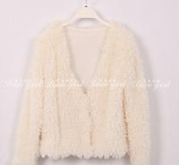 Free Shipping 2014 New Brand Autumn Winter Short Sweet Hair Sweater Coat for Women Plus Size Princess Jackets Women