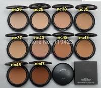 1PCs Brand MC Makeup Studio Fix Powder cake Plus Foundation, compact foundat, face powder + puffs , 15g drop ship free shipping