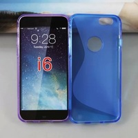 Anti Skid S Line TPU Case Cover  for iPhone 6 Plus 5.5 100pcs/lot Free Shipping