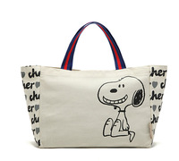 The *Lucy package * general merchandise rice white letters printed in large capacity Canvas Tote Bag