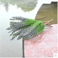 28 cm Dog tail top silk green grass purple flowers green trees wedding decorations  MA1603