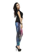 BOB shop 938 digital printing gothic sport punk  fitness women leggings legging leggins Pencil pants wholesale