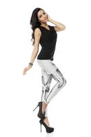 BOB shop 946 digital printing gothic sport punk skull  fitness women leggings legging leggins Pencil pants wholesale