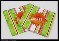 Food-grade Sunflower Paper Napkin Flower Festive & Party Tissue Napkins Decoupage Decoration Paper 33cm*33cm 1pack/lot