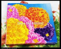 Food-grade Chrysanthemum Paper Napkins Mum Flower Festive & Party Tissue Napkins Decoupage Decoration Paper 33cm*33cm 1pack/lot