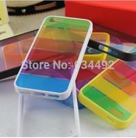 Rainbow TPU Candy Color Case Hybrid Back Cover for iPhone 5 5S Case Capa Celular K20246