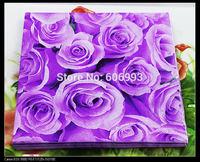 Food-grade Purple Rose Paper Napkins Mum Flower Festive & Party Tissue Napkins Decoupage Decoration Paper 33cm*33cm 1pack/lot