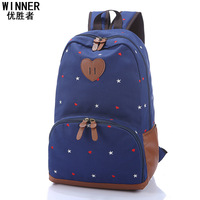 Korean backpack 2014 female students are new Backpack Rucksack Institute wind embroidery travel bag