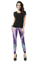 BOB shop 941 digital printing gothic sport punk  fitness women leggings legging leggins Pencil pants wholesale