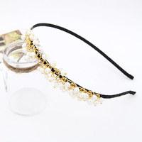 Fashion boutique  beaded hair hoops tiara pearl beads hair bands hair accessories for women