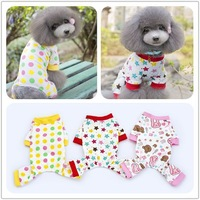 2014 fashion wholesale in China Cartoon pet dog clothes for dog clothing for pets dog pajamas 5 colors