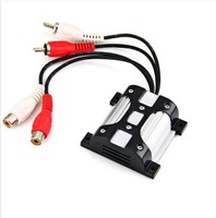 Free shipping Hot New AC-H204 10A Car Auto Audio Power Amplifier Noise Suppressor RCA Output
