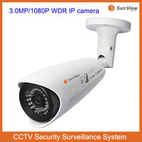 SunView 3.0mp 1080P WDR P2P video push multilingual Multiple platforms support CCTV security IP camera outdoor waterproof