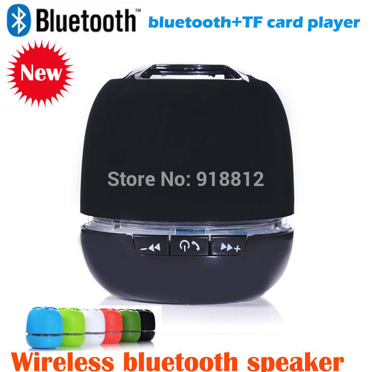 2014 hot new mini portable wireless blutooth speaker with phone handsfree,support TF Card player,(China (Mainland))