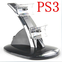 Dual USB Controller Charging Charger Dock / Station Stand for Sony PlayStation 3 PS3 Black free shipping by china post air