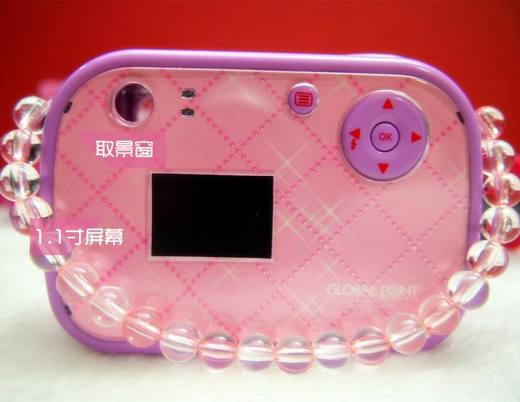New 2014 Children's mini satchel style princess digital camera girl child 130 p 1.1 Inch(China (Mainland))