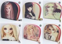 European beauty Cartoon doll printing wallets,Lovely coin purse,Cute girls daily clutch,cute princess women wallets,1pcs/lot