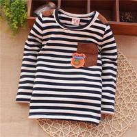 baby letter fashion  spring autumn striped unisex infant baby boys baby girls sweatshirts KT264