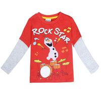 Free Shipping 2014 New Design Baby Boys Olaf T-shirt 100% Cotton Kids frozen t-shirts Baby Printed tshirts Cartoon Boy Clothing