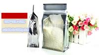 Wholesale 20*30+5cm Half Clear Bag,Stand Up zipper plastic Bag,Snack & Coffee Bag,Tea Bag / suitable for 3kg rice