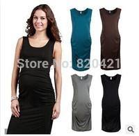Sexy commuter temperament round neck vest dress skirt pregnant women dress