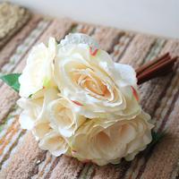 1 Pcs Artificial Silk Bridal Rose Simulation/Artificial Flower Wedding Bride Holding Bouquet