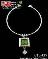 Real Irish Four 4 Leaf Clover Shamrock 18K Platinum Plated Chain Rhinestone Pearl Lovers Bracelet- Lucky Gift
