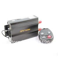 1 pc Free shipping Vehicle/smart GPS Tracker TK103B Quad Band Cut Off Fuel Web-based SD card Gps Tracking for vehicle motor