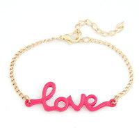 Min. Order $8.8 ( Mix Order ) New Korea Fashion Neon Color Love Bracelet For Women FB0013