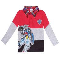 Free Shipping 2014 New Design Baby Boys Robot T-shirt 100% Cotton Kids Gentleman t-shirts Baby Printed tshirt Cartoon Clothing