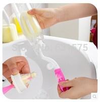 360 degree rotating sponge bottle brush/Baby bottle cleaner/Wash bottle brush 2pcs/LOT FREE SHIPPING